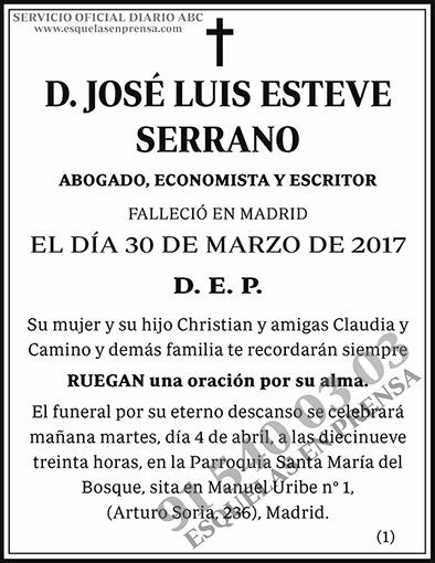 José Luis Esteve Serrano